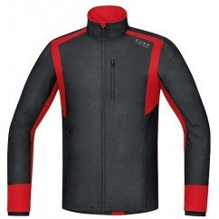 GORE VESTE WINDSTOPPER NOIR/ROUGE