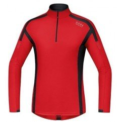GORE POLO AIR 1/2 ZIP ROUGE
