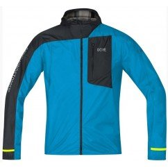 GORE VESTE LIGHT HOODED WINDSTOPPER BLEU