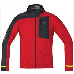 GORE VESTE LIGHT HOODED WINDSTOPPER ROUGE
