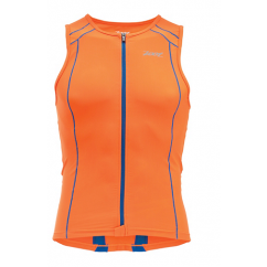 ZOOT PERFORMANCE TRI TOP FULL ZIP ORANGE