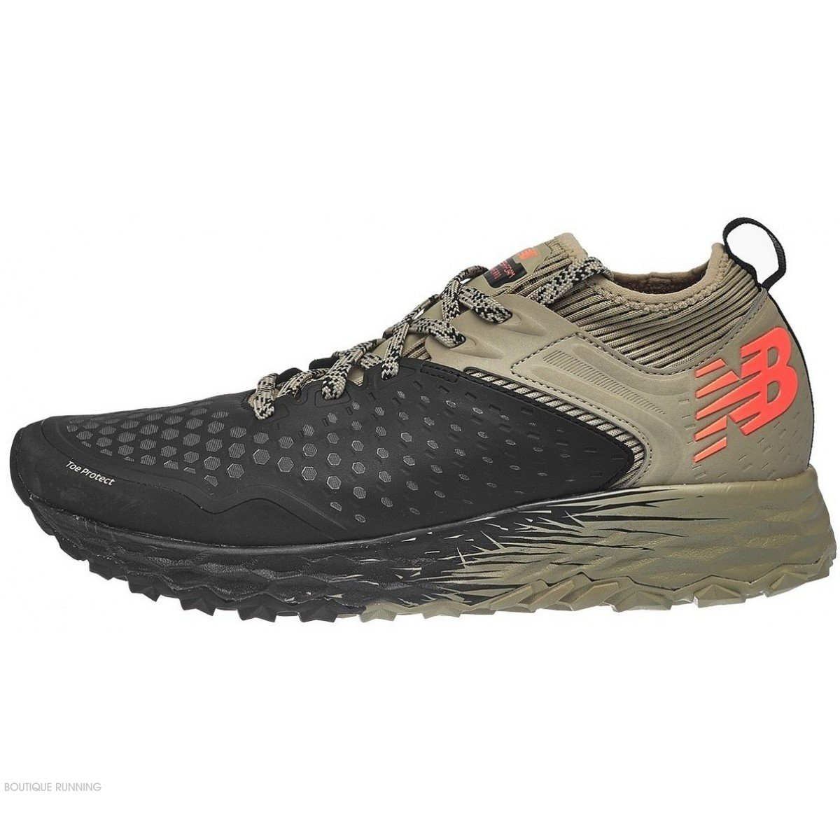 9aa87eb1ea9 chaussures de trail running pour hommes new balance mt hierro v4 mthierb4  Black with Trench   Alpha Orange