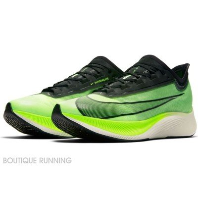 nike zoom fly 3 at8240-300 electric green / black