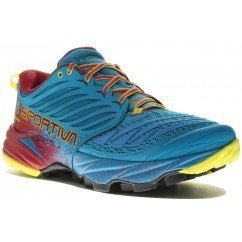 chaussure de trail running La Sportiva akasha 26148 tropic blue / cardinal red
