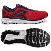 chaussure de running pour homme Brooks Glycerin 17 1102961d683 red / biking red / peacoat